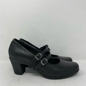 Clarks Bendables Double strap Mary Jane Heels